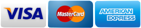 We accept Visa, Mastercard, and Amex
