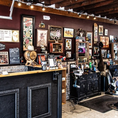Best Commercial Interior<br>over 50K population<br>Redemption Barber Shop<br>Rowlett